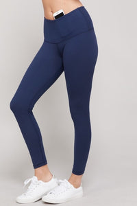 Yoga Waist Leggings - Navy (PRE-ORDER)