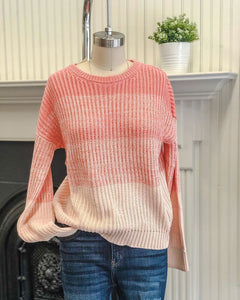 Coral Block Sweater