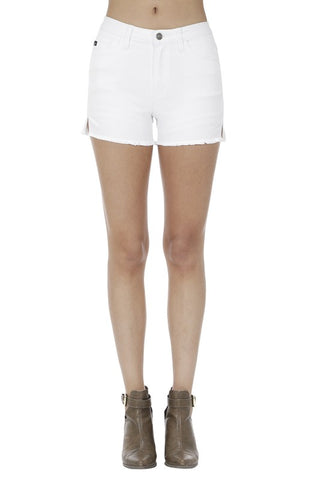 Kancan Denim Shorts - White