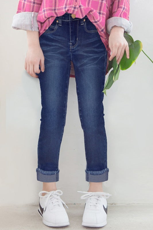 Toddler/Girls Fray Jeans