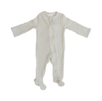 Organic Cotton Ribbed Footed Zipper One-piece