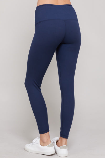 Yoga Waist Leggings - Navy