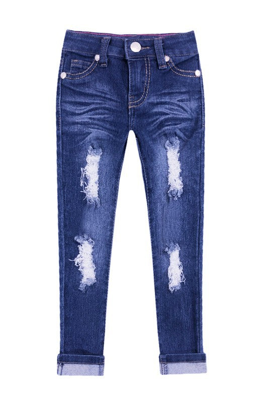 Girls Distressed Denim