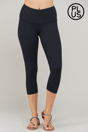 Curvy Capri Butter Leggings - Black