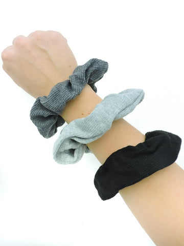 Ribbed Scrunchies