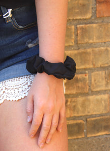 Black Multi Scrunchies