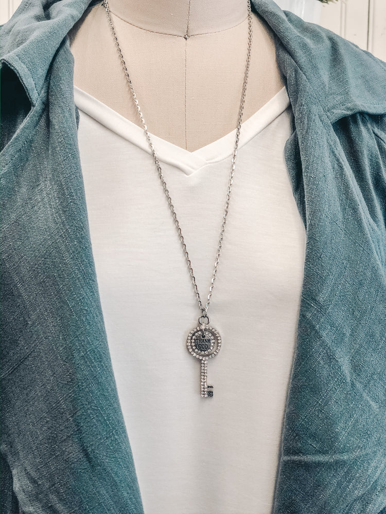 Load image into Gallery viewer, Ruby Key Necklace