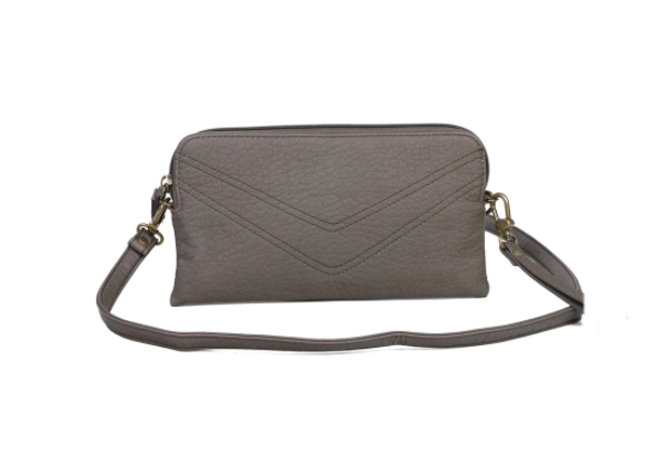 The Samantha Wallet Crossbody - Dark Grey