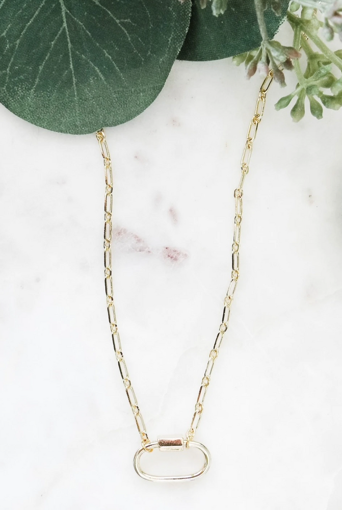 Locked Chain Necklace - Gold