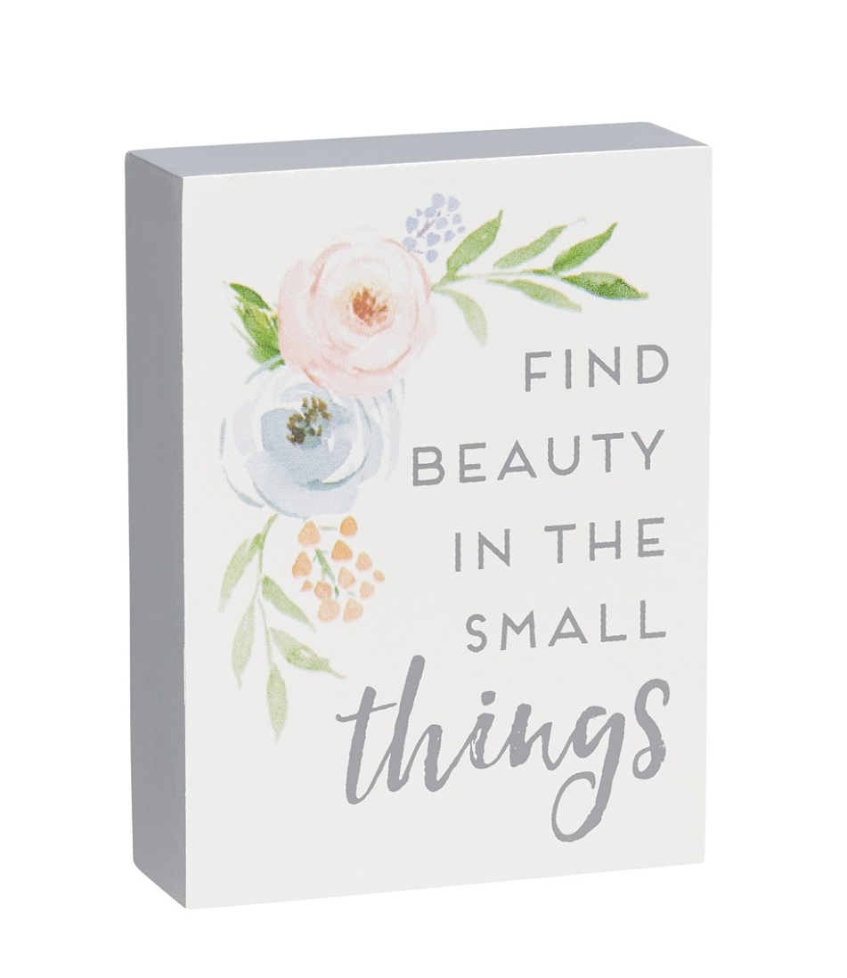 Small things block sign