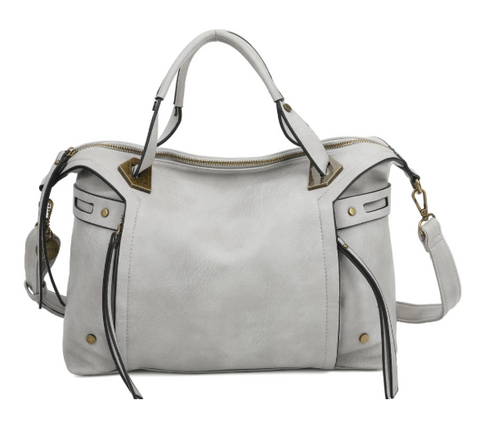 The Ali Satchel - Light Grey