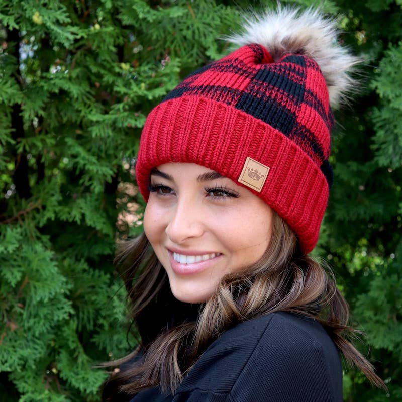 Black & Red Checkered Hat
