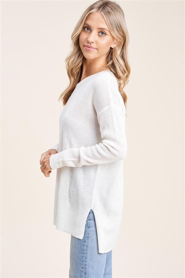 Load image into Gallery viewer, Waffle Knit Long Sleeve