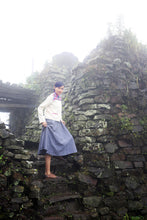Load image into Gallery viewer, Model wearing Handwoven Short coat with traditional Chothe weave of Manipur, designed by Khumanthem Atelier