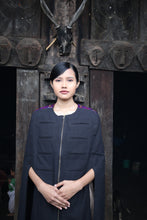 Load image into Gallery viewer, Handwoven Military Style Cape coat, designed by Khumanthem Atelier