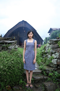 Handwoven Square neckfitted midi dress, designed by Khumanthem Atelier