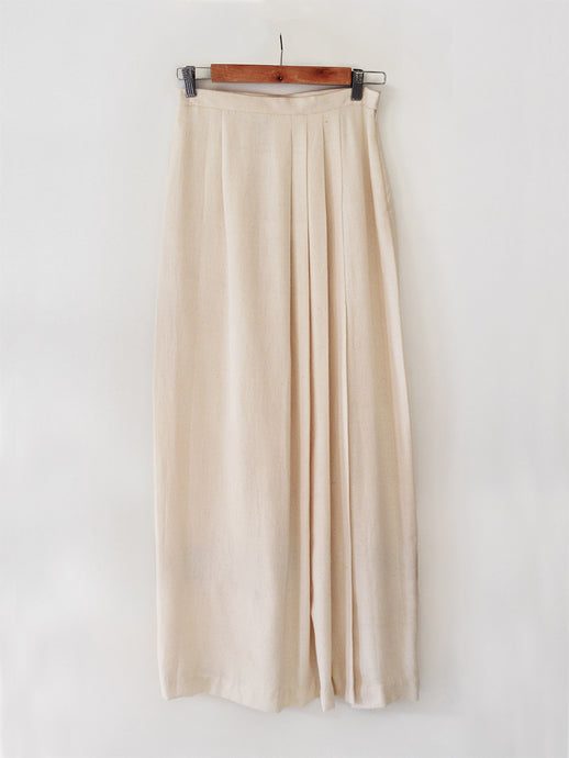 Diamond patterned pleated Maxi Skirt with slit made from 100% pure cotton, designed khumanthem Atelier