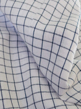 Load image into Gallery viewer, Close up look of the material of Front view of Checkered Tunic Dress (Shamee- Lanmee Motif) made from 100% pure cotton designed by Khumanthem Atelier