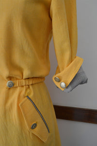 Coat dress with front flap pockets