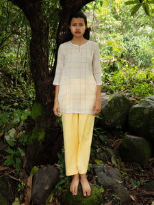 Handwoven Side Gusset Cotton Blouse, designed by Khumanthem Atelier