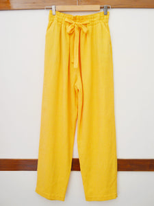 front view of tie-up pants, designed by Khumanthem Atelier