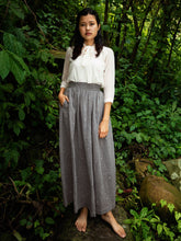 Load image into Gallery viewer, Handwoven Elastane cotton skirt, designed by Khumanthem Atelier