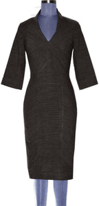 Panelled midi dress with cut out back