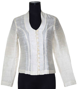 Collar Sheer Shirt for Women
