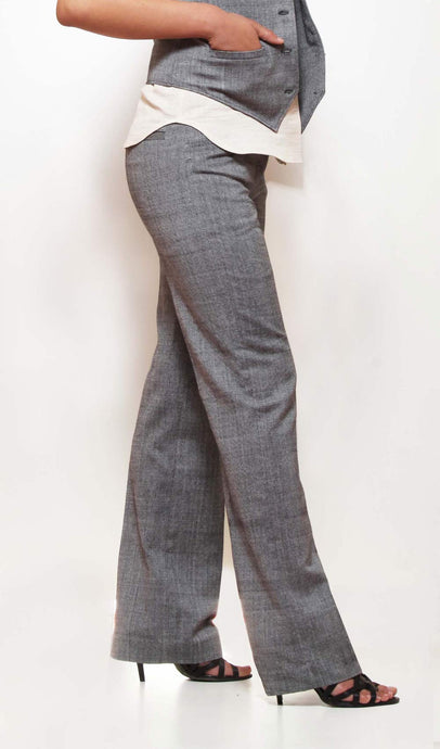 Diamond pattern fitted trousers