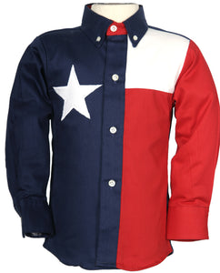 Texas Cotton Kid's Lone Star Flag Shirt