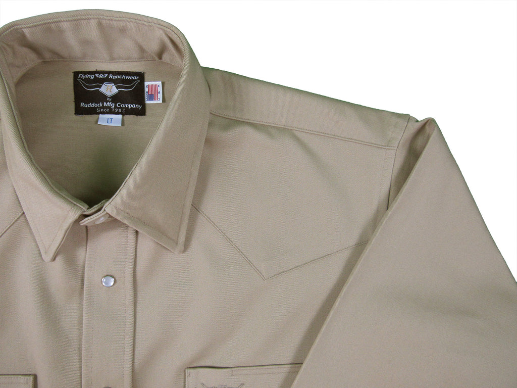Made in USA Flying R Ranchwear Ruddock Shirts Snaps big man tall man