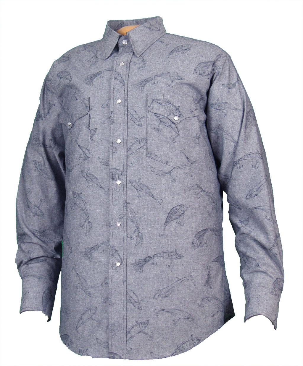 Fiesta Prints Reverse Lure Long Sleeve - snaps - FINAL MARKDOWN - $29.95