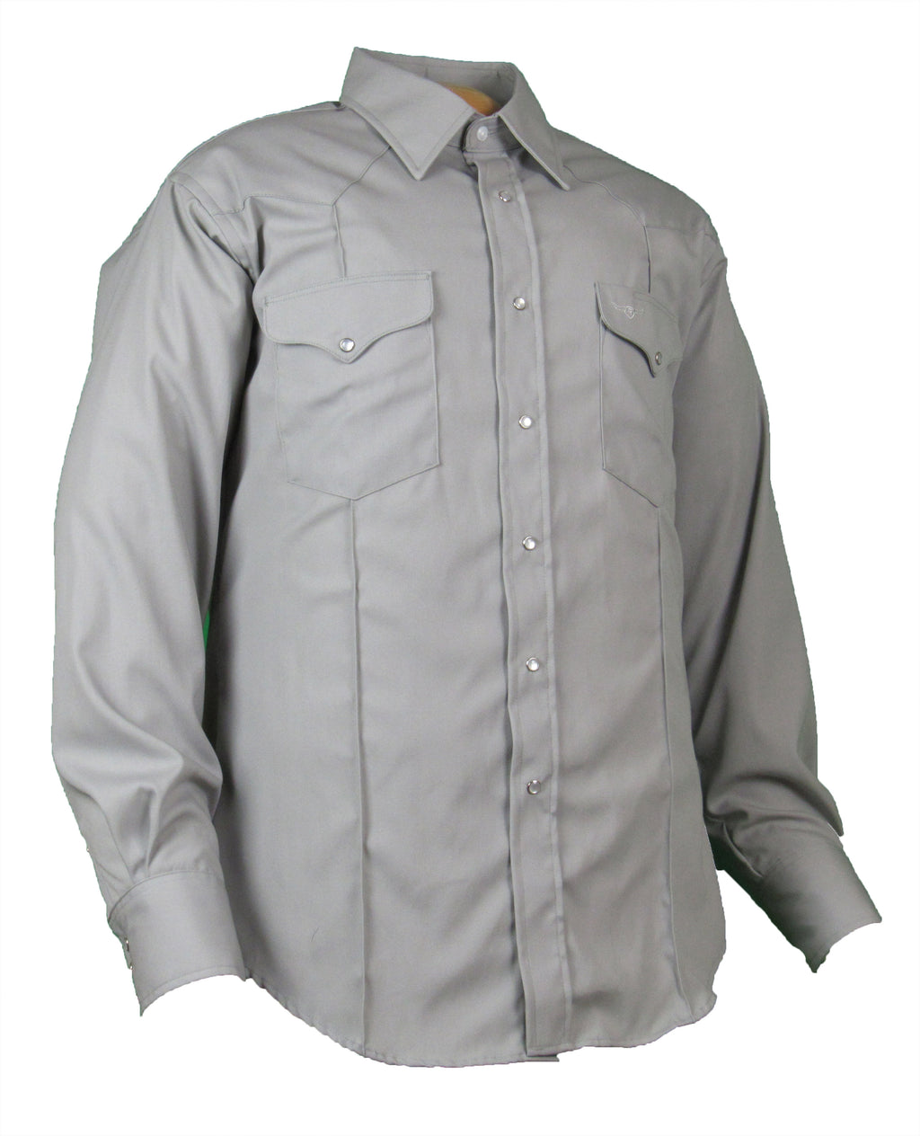 Rancher Crease - Lt. Grey - Long Sleeve - Snaps