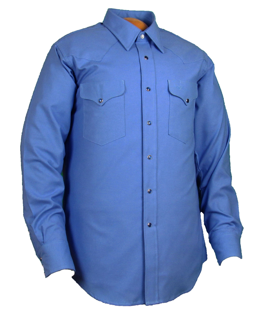 Flying R Ranchwear - Solid Oxford - Pacific Blue - Snaps