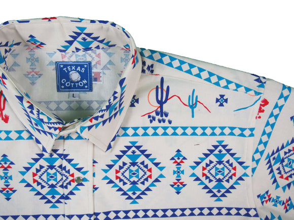 Texas Cotton Collection - The Tucson Tuxedo - Short Sleeve - Fiesta Prints - Snaps