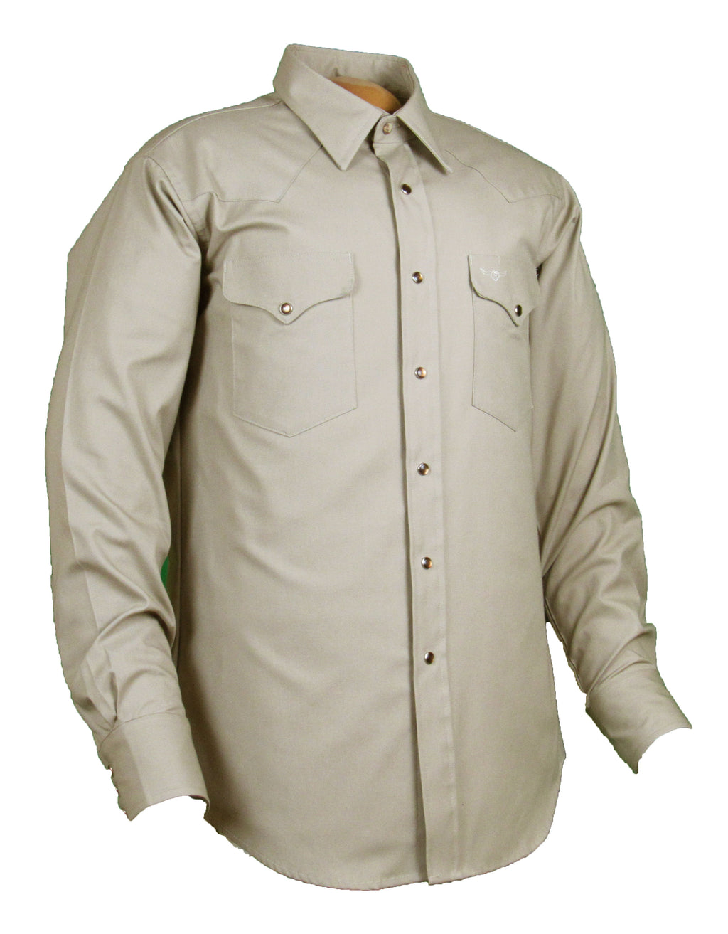 Flying R Ranchwear - Solid Oxford - Khaki - Snaps