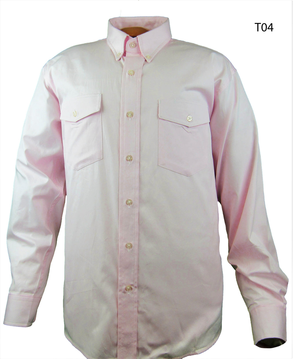 Light Pink Pinpoint Oxford - Long Sleeve - Buttons
