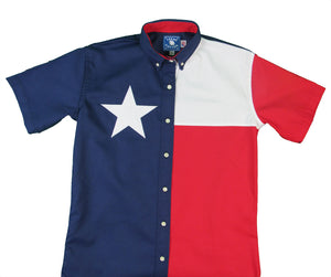 Texas Cotton Ladies Short Sleeve Lone Star Flag Shirt