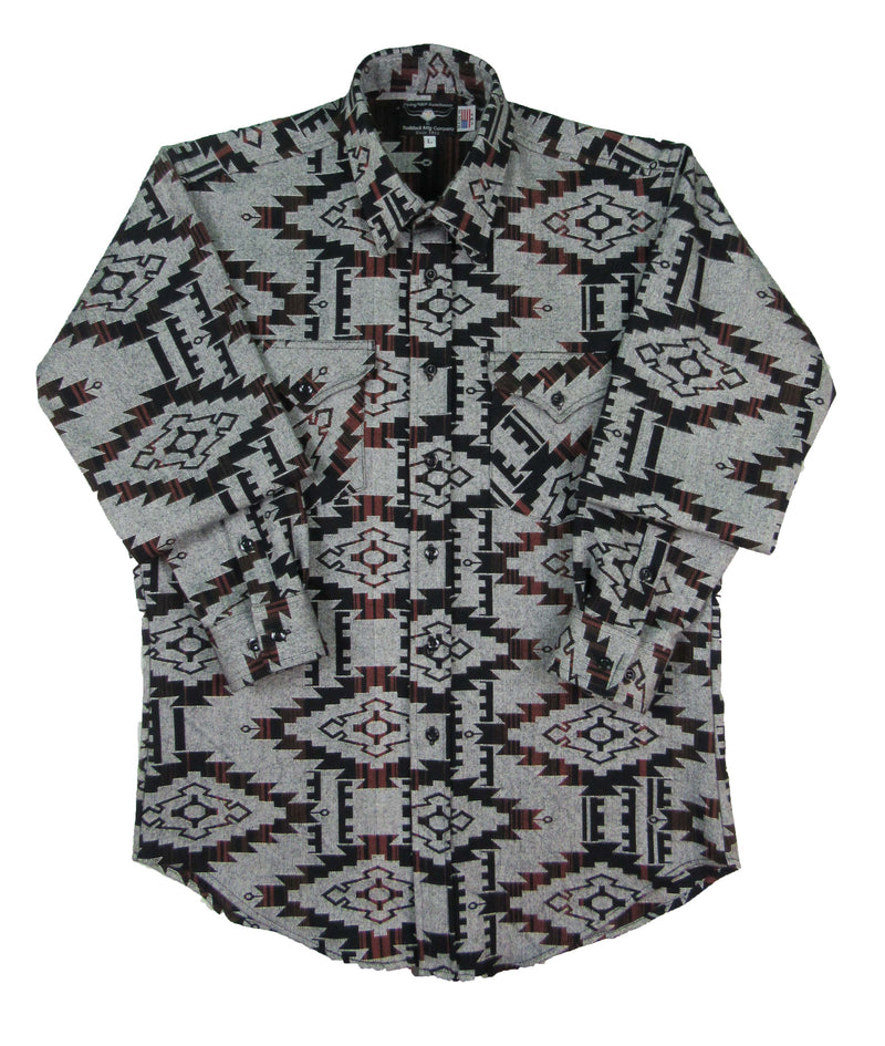 Flying R Ranchwear - Overshirt - Brown Southwest Print - Buttons