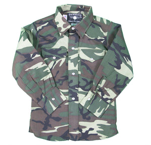 Boys Western Snap shirt long sleeve - Camo - Save BIG