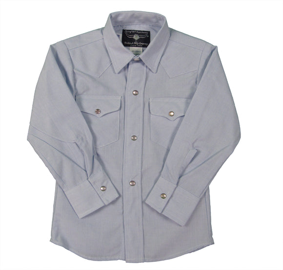 Boys Western Snap shirt long sleeve - Light Blue