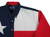 Texas Cotton Men's Long Sleeve Lone Star Flag Shirt