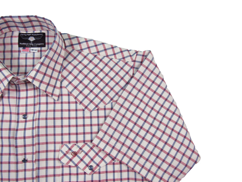 Oxford Awning Stripe - Short Sleeve - Flying R Ranchwear
