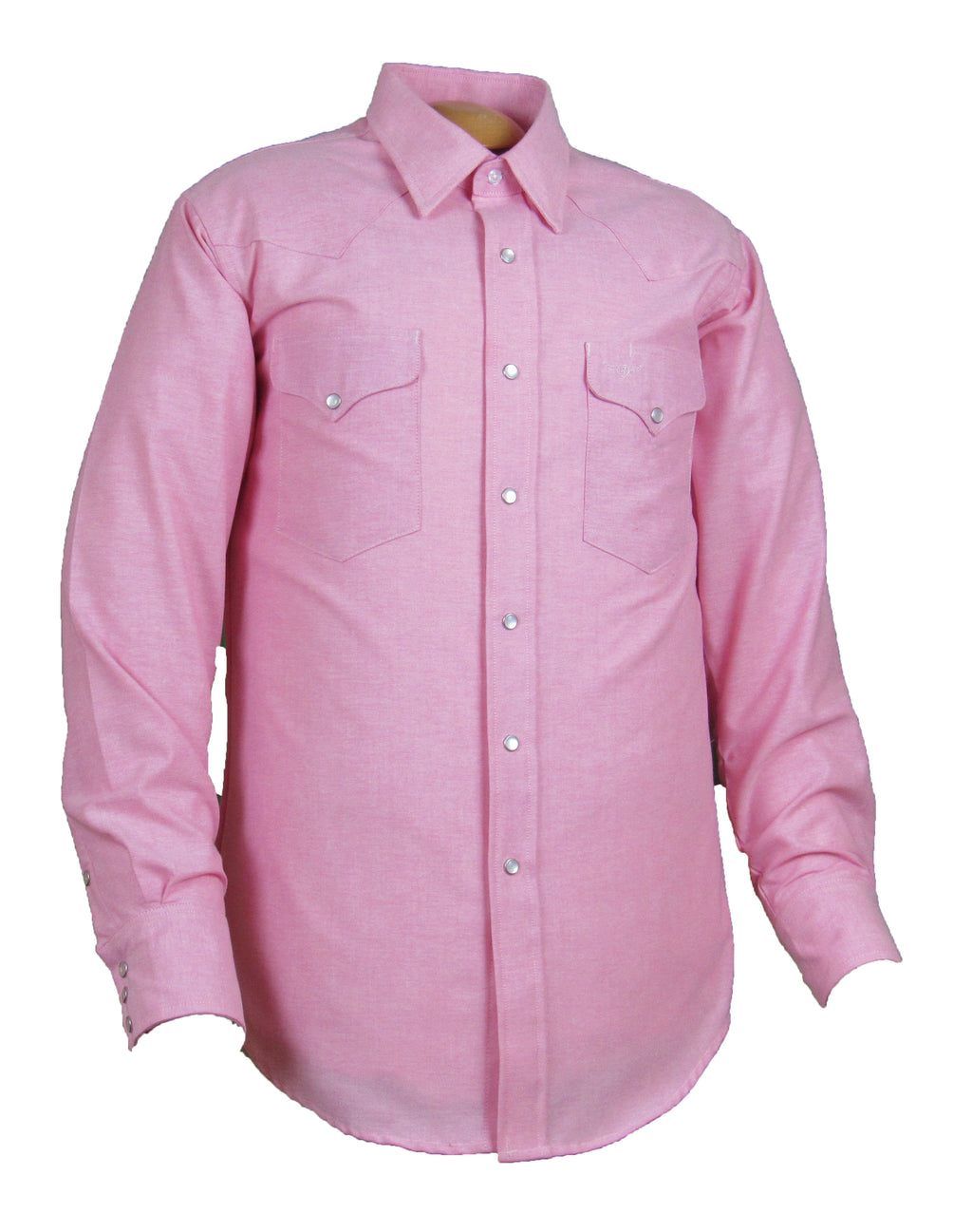 Flying R Ranchwear - Solid Oxford - Pink - Snaps