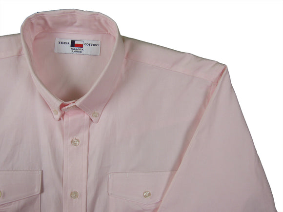Texas Cotton Collection Light Pink Pinpoint oxford button down