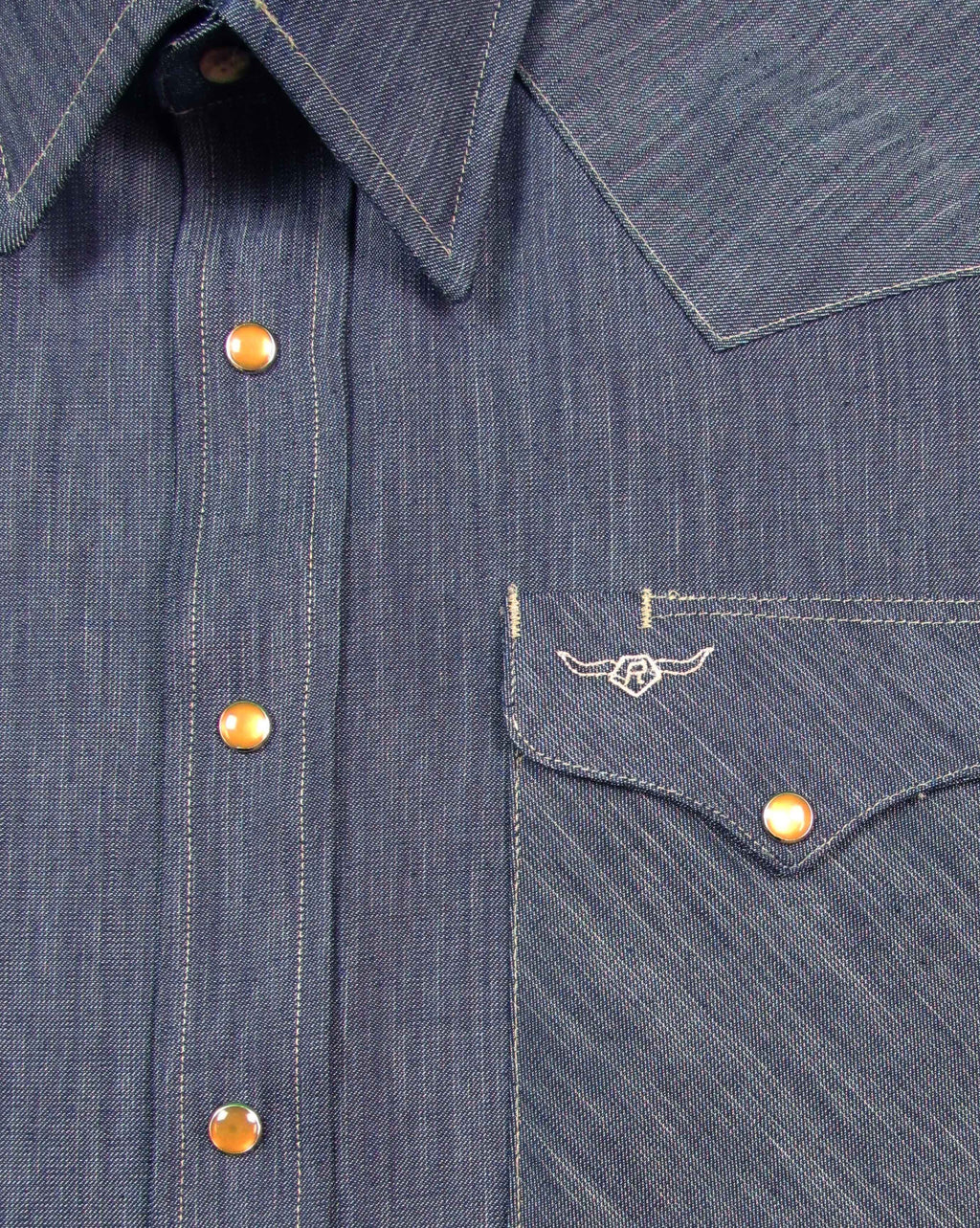 Solid - Indigo Tencel Chambray - Long Sleeve - Snaps