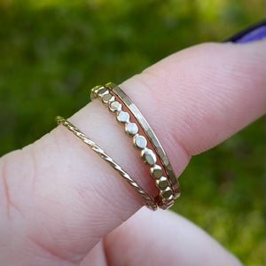 Goldfilled Stacking Ring Set / Size 8.5