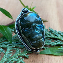 Load image into Gallery viewer, GRIM Carved Labradorite Ring / Size 8.75