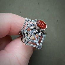 Load image into Gallery viewer, PREY Carved Carnelian Ring / Size 6