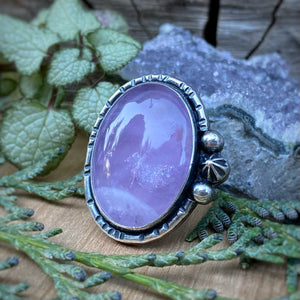 Amethyst & Copper Ring / Size 6